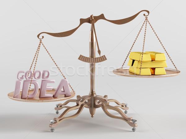хорошие Идея один сторона баланса другой Сток-фото © Saracin