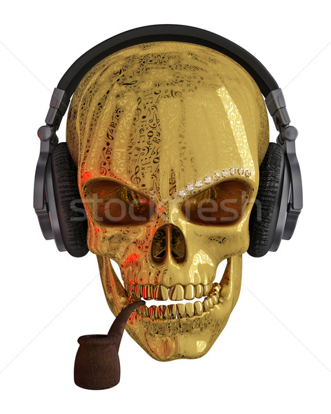 Golden Skull Stock photo © Saracin