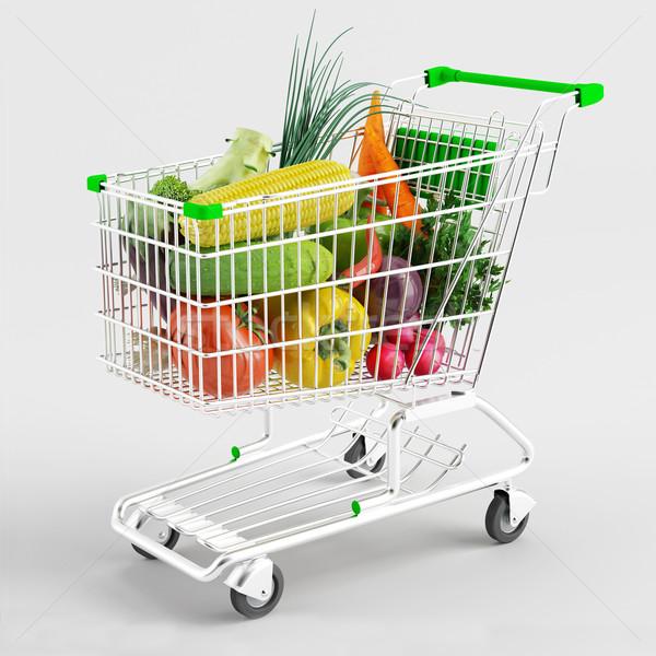 Satın alma sebze beyaz alışveriş Stok fotoğraf © Saracin