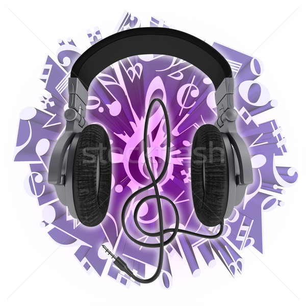 Headphones and music Stock photo © Saracin
