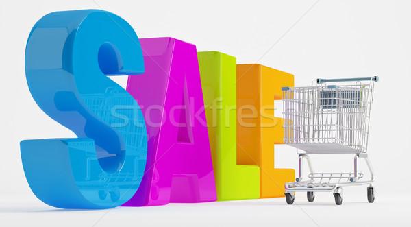 Wesoły koszyk stałego duży litery Zdjęcia stock © Saracin