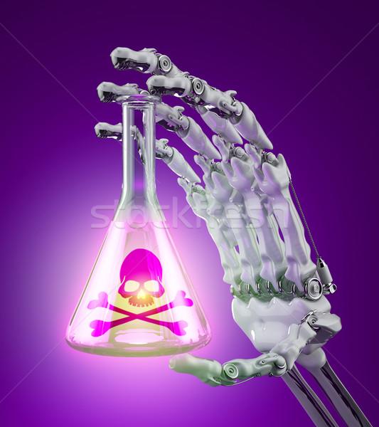 Toxique produits chimiques chimiques tube à essai contenu robot Photo stock © Saracin