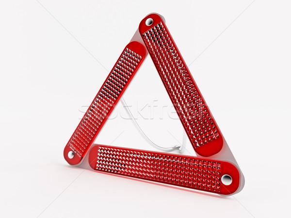 警告 三角形 オプティカル 表面 車 ストックフォト © Saracin