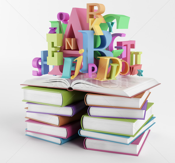 Alphabet and books Stock photo © Saracin