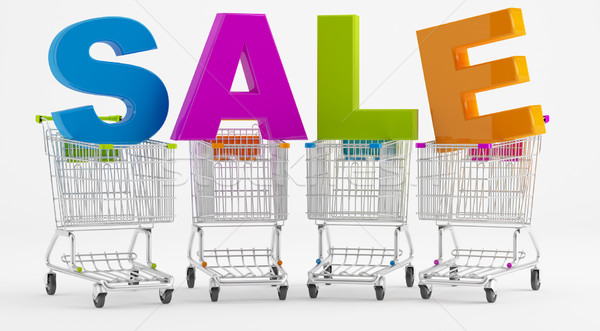 Sale and cart  Stock photo © Saracin