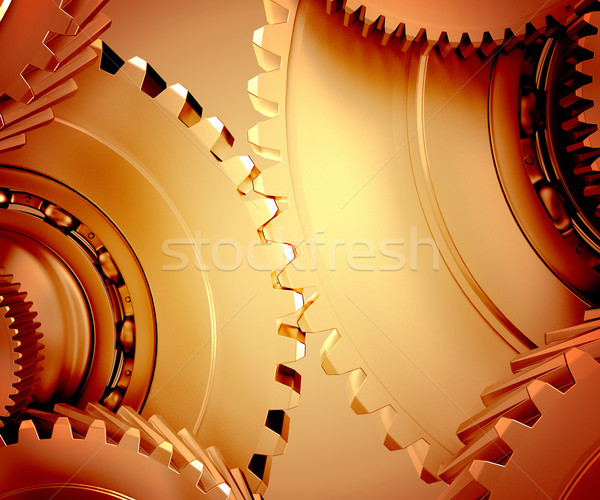 Toothed gear Stock photo © Saracin