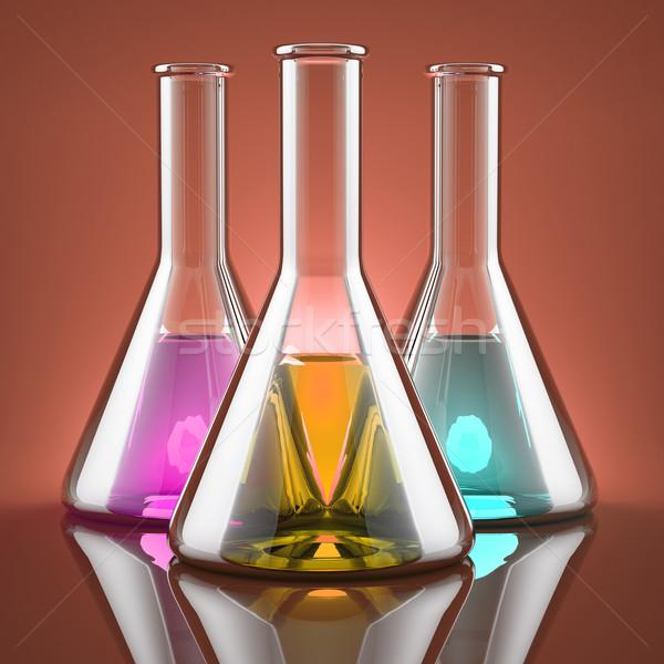 химикалии различный цветами лаборатория лаборатория Сток-фото © Saracin
