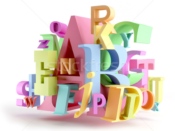 Colorful letters Stock photo © Saracin