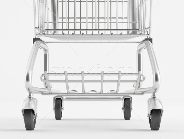 Wheel shopping trolley Stock photo © Saracin