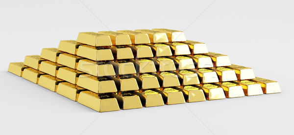Pyramid of gold bars Stock photo © Saracin
