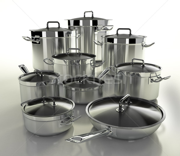 Set of pots Stock photo © Saracin
