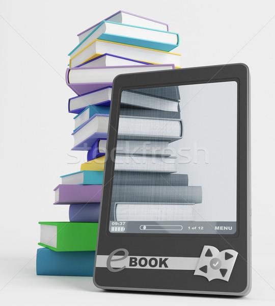 Ebook zawartość Widok widoczny zdjęcia książek Zdjęcia stock © Saracin