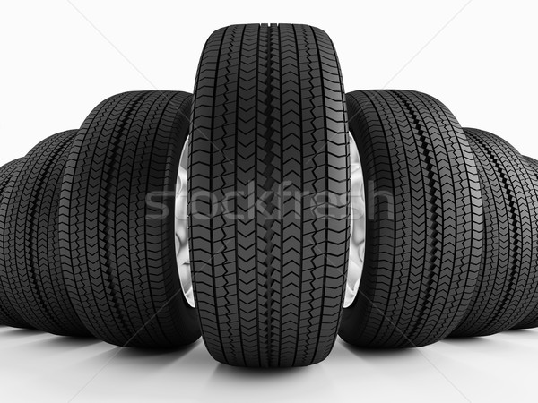автомобилей шины новых черный имитация Сток-фото © Saracin