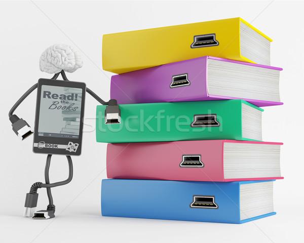 содержание электронных характер книгах Сток-фото © Saracin