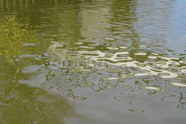 Stockfoto: Water · gebroken · oppervlak · groene · rivier
