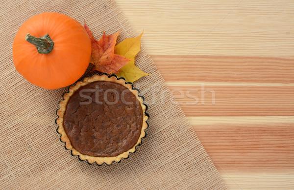 Zdjęcia stock: Cukru · dynia · mini · pie · jesienią · klon