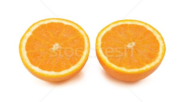 Zdjęcia stock: świeże · pomarańczowy · odizolowany · biały