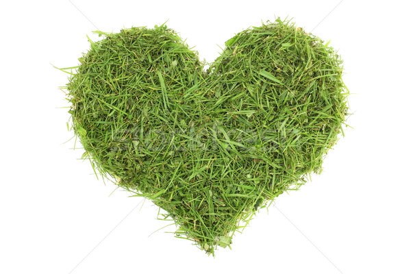 Grass cuttings in a heart shape Stock photo © sarahdoow
