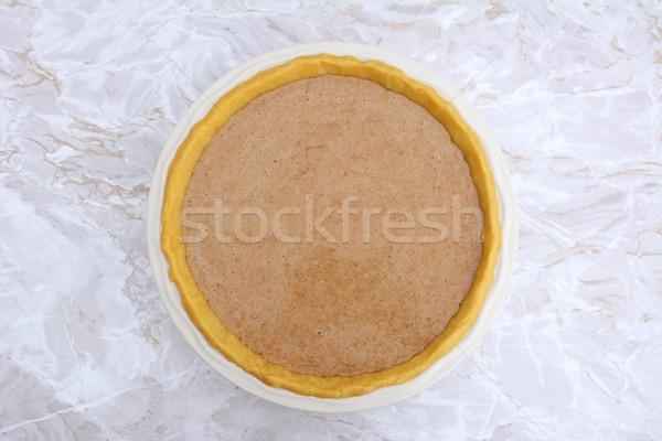 Pumpkin pie ready to be baked Stock photo © sarahdoow