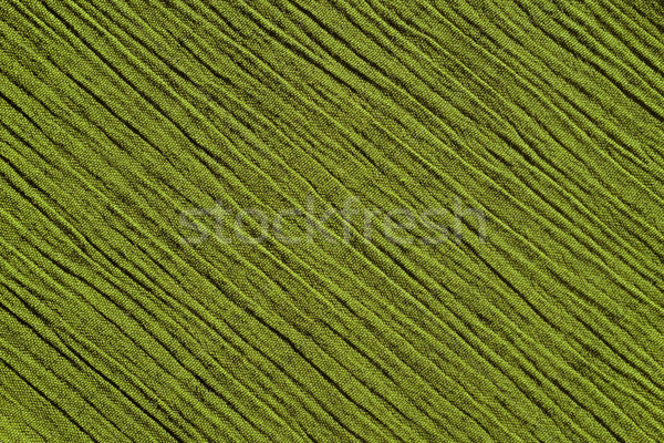 Light green crinkled fabric background texture Stock photo © sarahdoow
