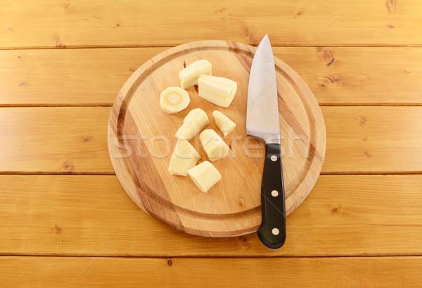 рубленый кухне ножом частей сырой Сток-фото © sarahdoow
