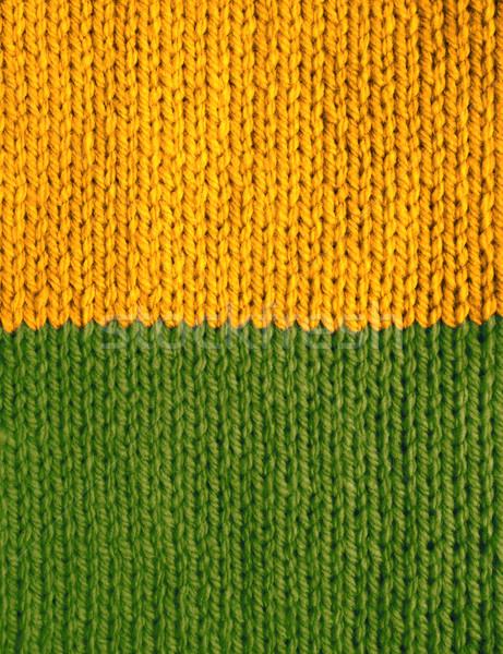Kous steek Geel groene Stockfoto © sarahdoow