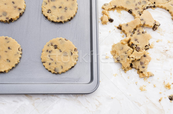 Quatre chocolat puce cookies plateau Photo stock © sarahdoow