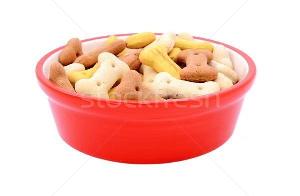 Drogen hond biscuits Rood huisdier voedsel Stockfoto © sarahdoow