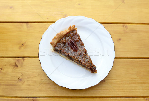 Portion of traditional pecan pie Stock photo © sarahdoow