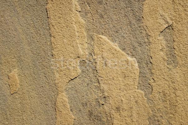 Durva citromsárga homokkő absztrakt textúra háttér Stock fotó © sarahdoow