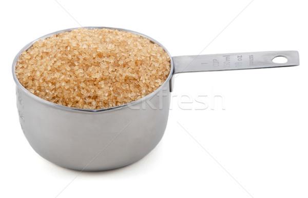 Foto stock: Azúcar · americano · metal · taza · medida · aislado