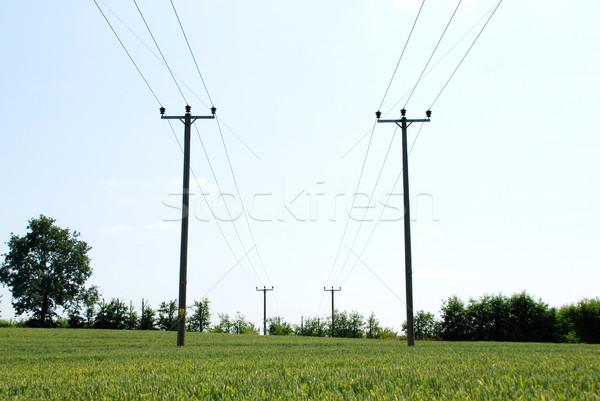 электроэнергии сельский власти фермы Сток-фото © sarahdoow