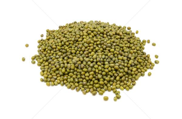 Dried green mung beans Stock photo © sarahdoow