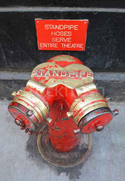 Red and gold siamese standpipe  Stock photo © sarahdoow