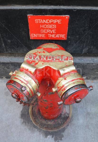 Rouge or à l'extérieur broadway théâtre eau Photo stock © sarahdoow