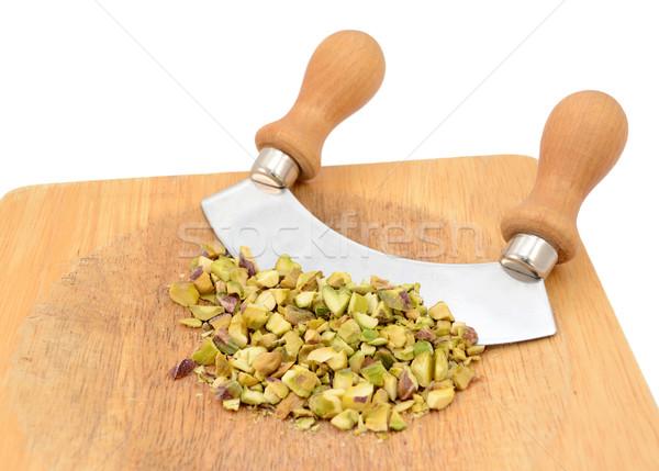 Aprított kés fából készült vágódeszka étel fa Stock fotó © sarahdoow