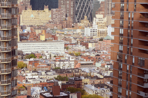 Cityscape кухне Нью-Йорк Небоскребы Сток-фото © sarahdoow