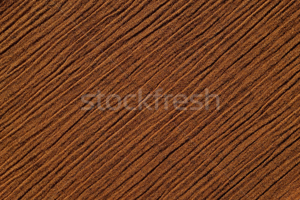 Warm brown crinkled fabric background texture Stock photo © sarahdoow