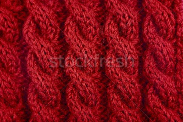 詳細 赤 ケーブル ステッチ ロープ ストックフォト © sarahdoow