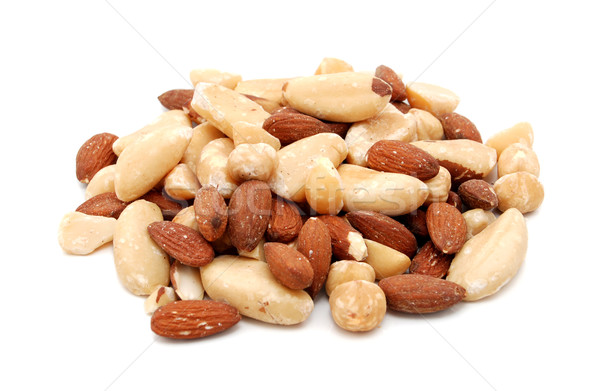 Photo stock: Mixte · noix · isolé · blanche · alimentaire · macro