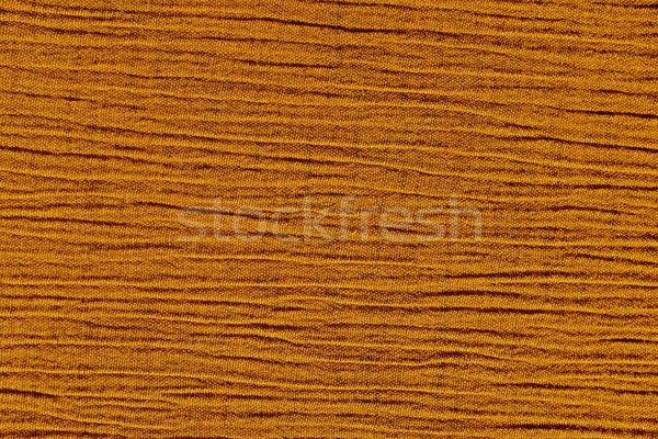 Stock photo: Gold ochre crinkled material background texture