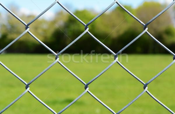 Metal chain-link fence Stock photo © sarahdoow