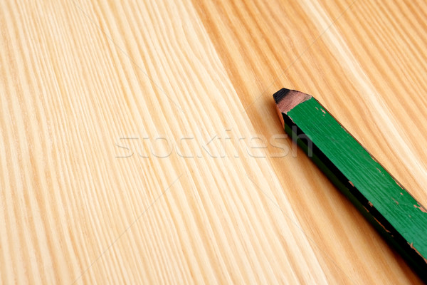 Closeup of green carpenter pencil Stock photo © sarahdoow