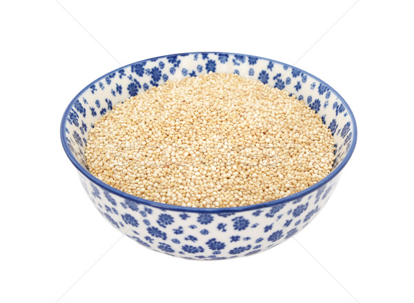 Quinoa in a blue and white china bowl Stock photo © sarahdoow