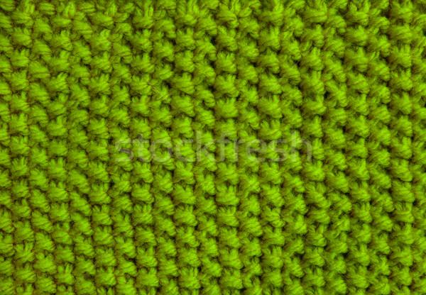 Mos steek groene wol garen Stockfoto © sarahdoow