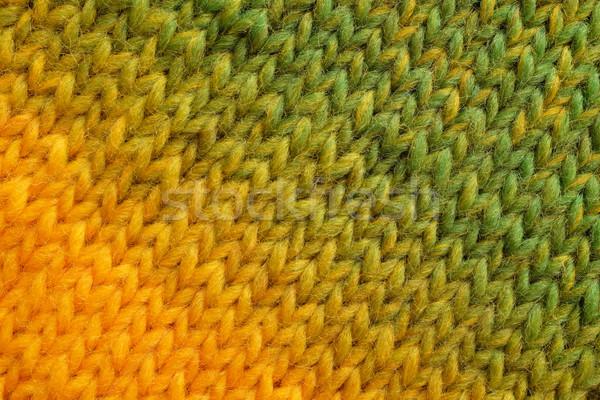Geel groene diagonaal steek gemengd wol Stockfoto © sarahdoow