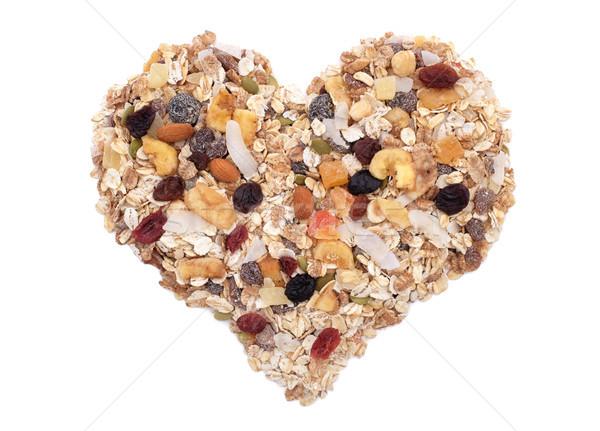 мюсли зерновых семян смешанный фрукты орехи Сток-фото © sarahdoow