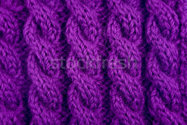 Detail of purple cable knitting stitch Stock photo © sarahdoow