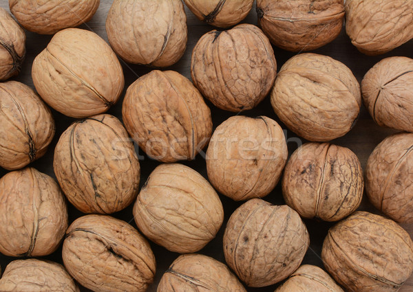 Conchiglie legno texture sfondo shell dado Foto d'archivio © sarahdoow