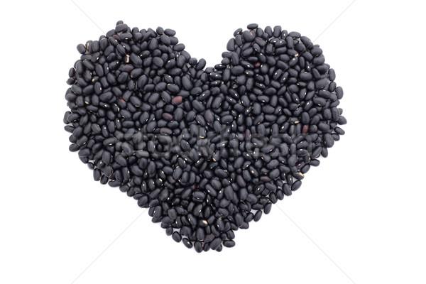 черный черепахи бобов формы сердца изолированный белый Сток-фото © sarahdoow